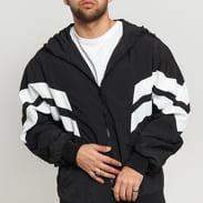 Urban Classics Crinkle Panel Track Jacket čierna / biela