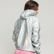 Urban Classics Ladies Holographic Pull Over Jacket strieborná