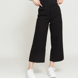 LAZY OAF Black Cropped Wide Leg Jeans