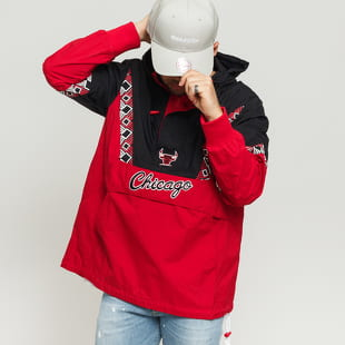 Mitchell & Ness NBA Half Zip Team Colour Anorak Chicago Bulls