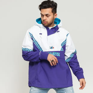 Mitchell & Ness NBA Half Zip Team Colour Anorak Charlotte Hornets