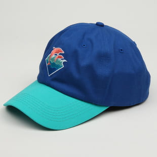 Pink Dolphin Waves 6 Panel Hat