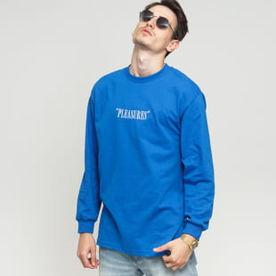 PLEASURES Core Logo EMB Longsleeve Tee