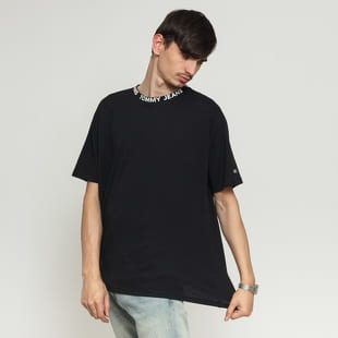 TOMMY JEANS M Heather Branded Collar Tee