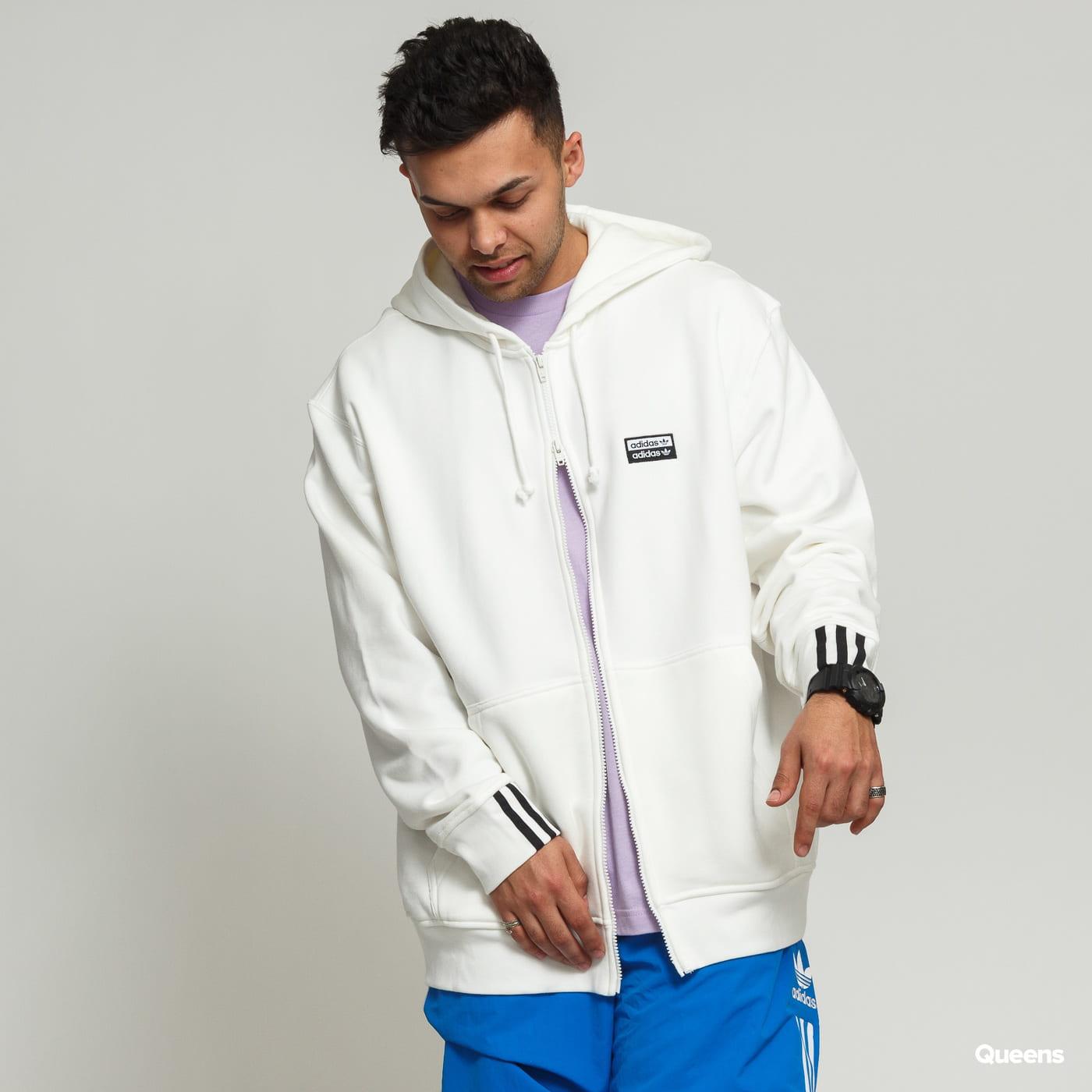 5debd2332 Mikina adidas Originals R.Y.V. FZ Hoody biela (ED7231) – Queens 💚