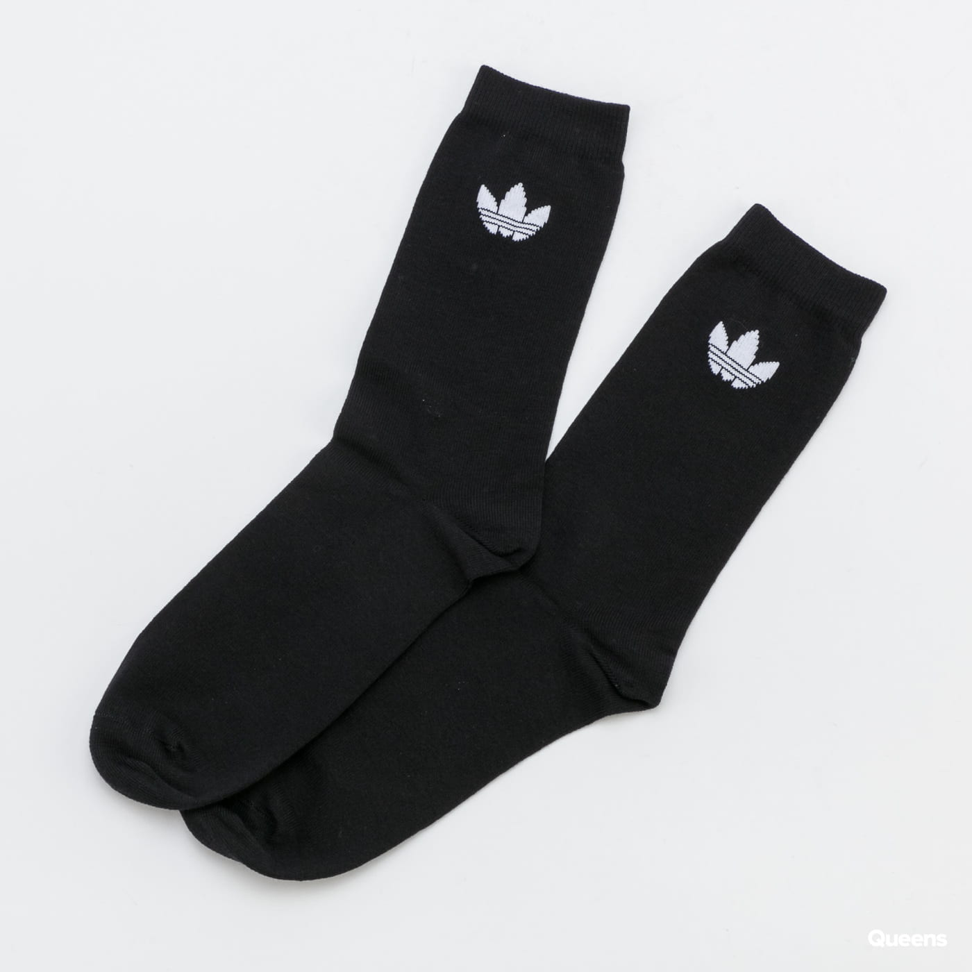 adidas Originals Thin Tref Crew 2 Pack black