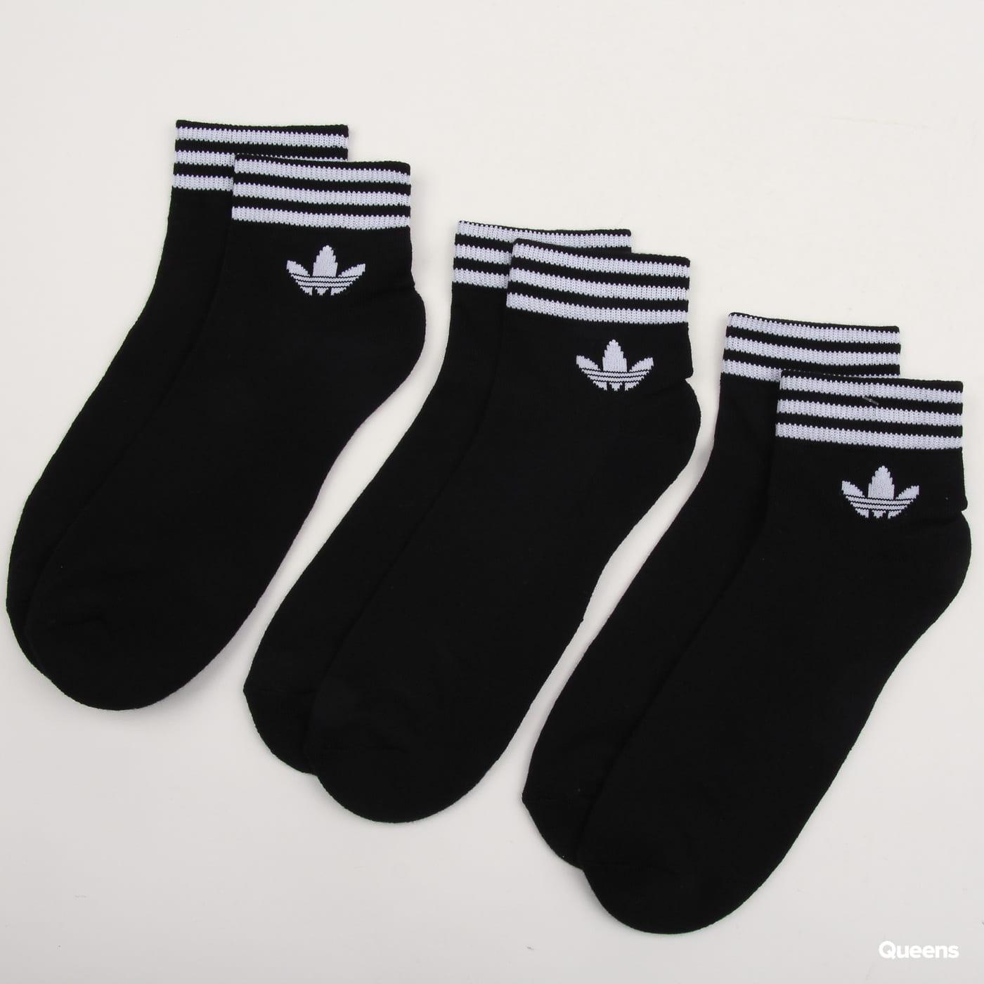 adidas Originals Trefoil Ankle Socks HC 3Pack čierne / biele