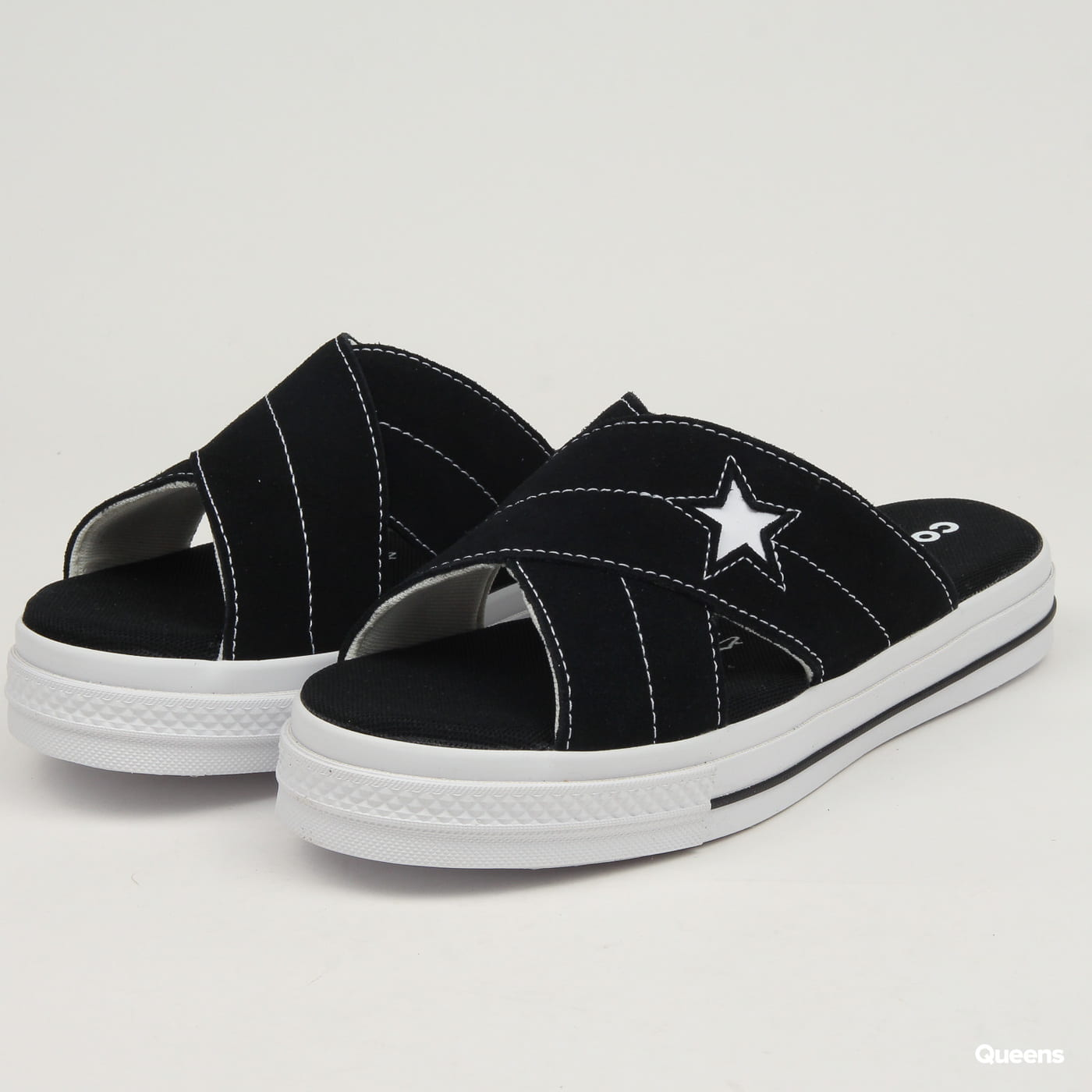 Converse One Star Sandal Slip black egret white