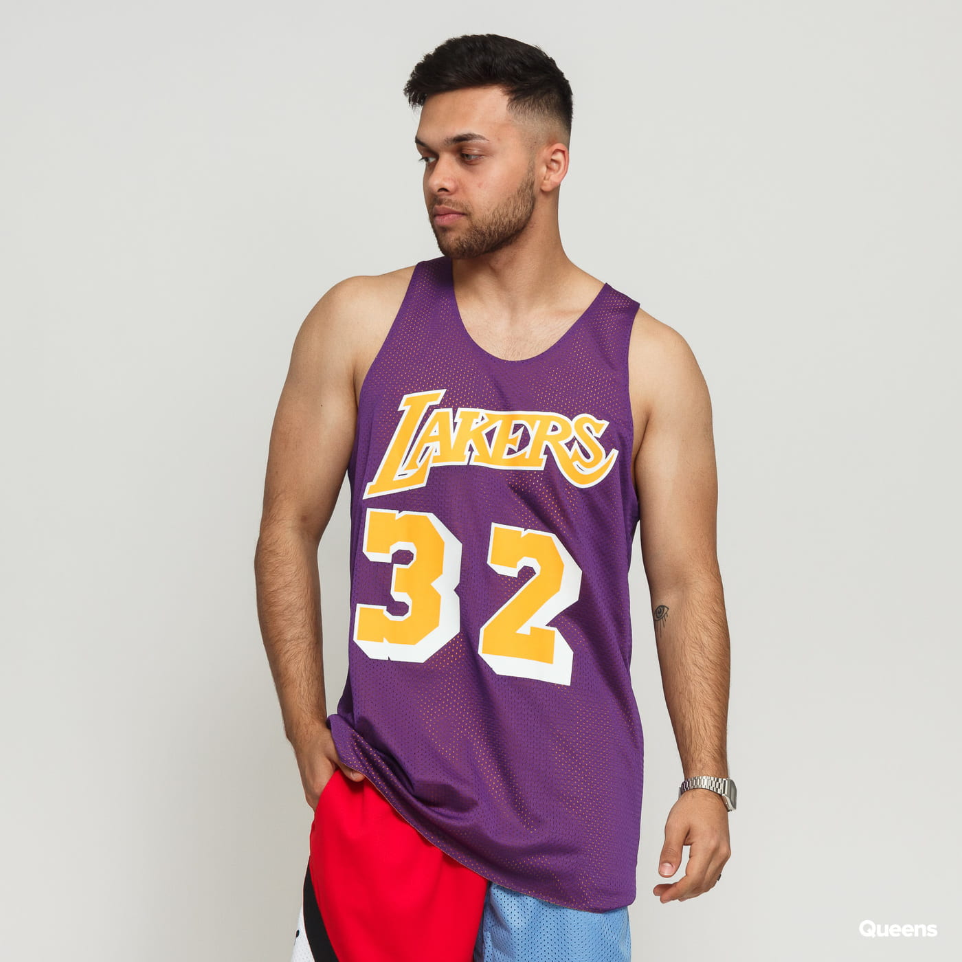 0cc979ae Jersey Mitchell & Ness NBA Reversible Mesh Tank Top LA Lakers #32 yellow /  purple – Queens 💚
