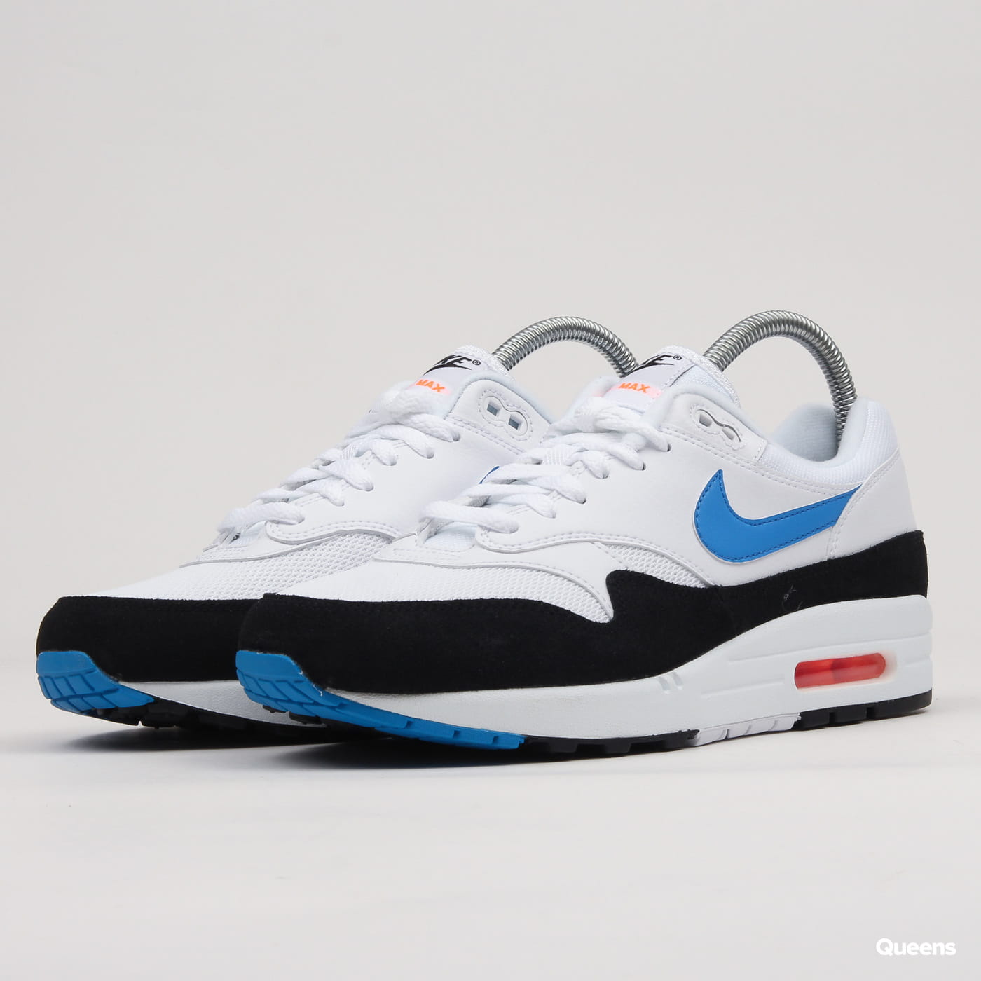 Nike Air Max 1 white / photo blue - total orange