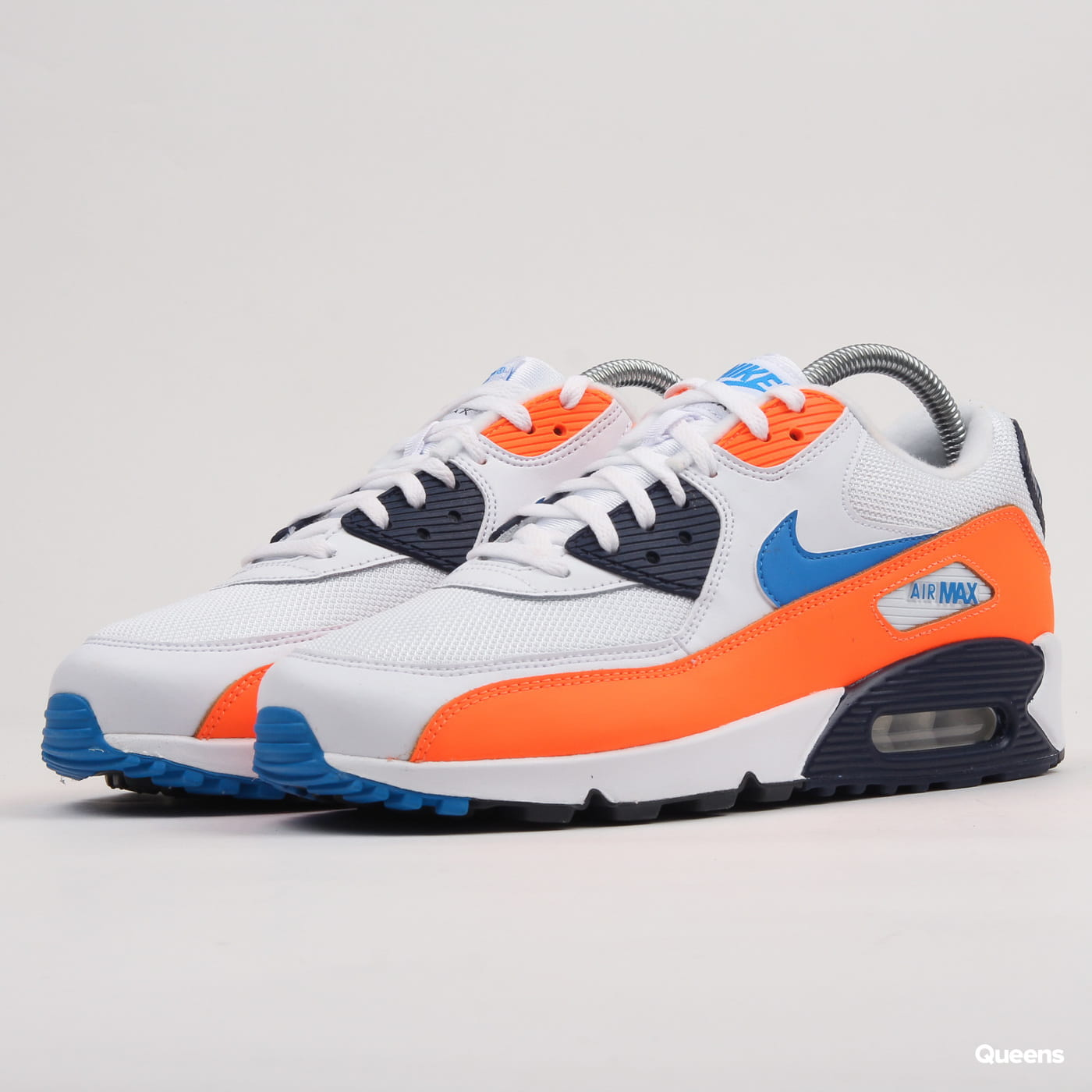 ab0c701af8 Sneakers Nike Air Max 90 Essential white / photo blue - total orange (AJ1285 -104) – Queens 💚