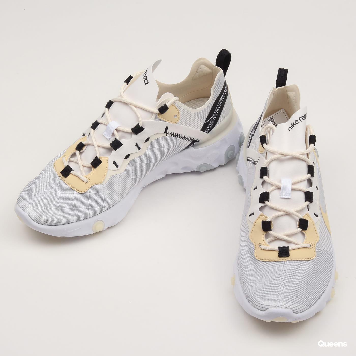 Nike React Element 55 white / pale vanila - black