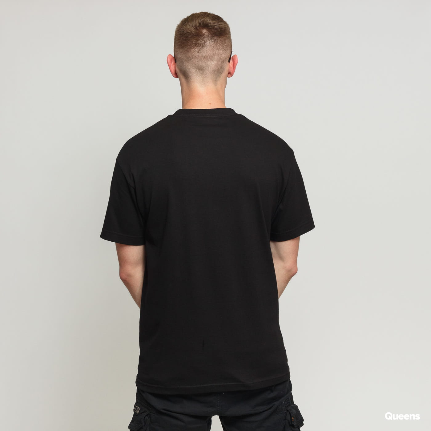 PLEASURES Mania Logo Tee black satin