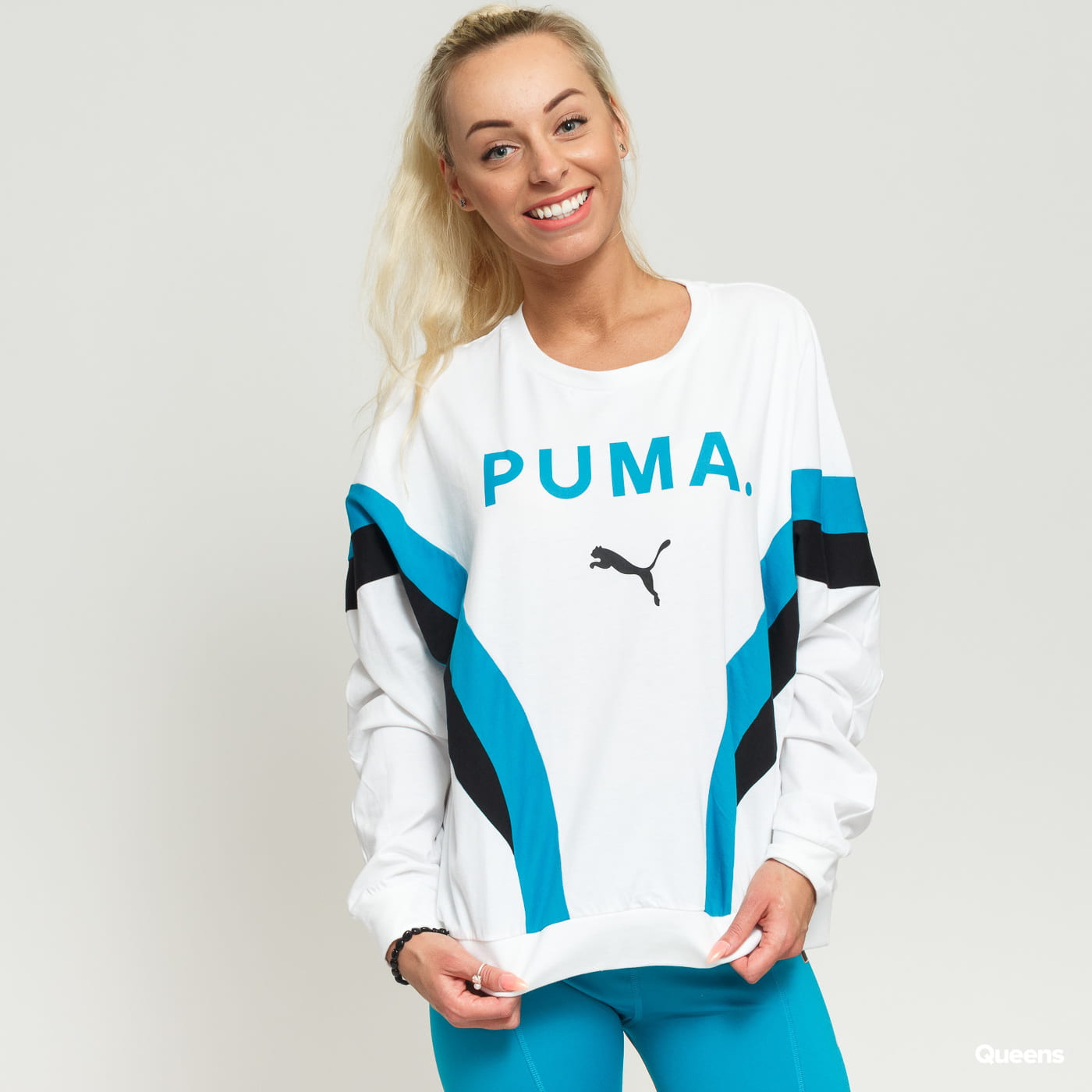 ffb4ec12 Women Long Sleeve T-Shirt Puma Chase Long Sleeve Top blue / turquoise  (578020 02) – Queens 💚