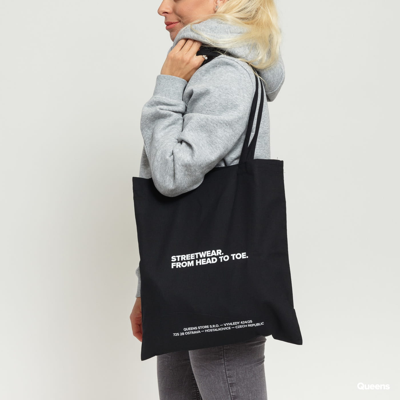 1ceca4bda3500 Queens Streetwear Tote Bag black
