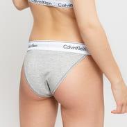 Calvin Klein High Leg Tanga melange šedé