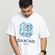 Diamond Supply Co. Asscher Cut SS Tee bílé