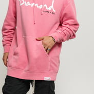 Diamond Supply Co. OG Script Pigment Overdye Hoodie růžová