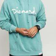 Diamond Supply Co. OG Script Pigment Overdye Hoodie melange světle modrá