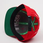 LRG Interception Snapback červená / zelená
