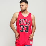 Mitchell & Ness NBA Reversible Mesh Tank Top Chicago Bulls #33/30 červený / bílý