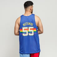 Mitchell & Ness NBA Reversible Mesh Tank Top Denver Nuggets #55 modrý / bílý