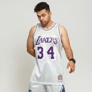 Mitchell & Ness NBA Swingman Jersey LA Lakers - Shaquille O'Neal #34 stříbrný