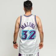 Mitchell & Ness NBA Swingman Jersey Utah Jazz - Karl Malone #32 stříbrný