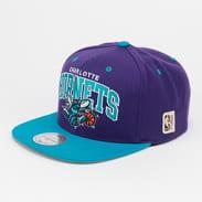 Mitchell & Ness Team Arch Charlotte Hornets fialová / tyrkysová / šedá