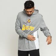 New Era NBA Contrast Panel LA Lakers Hoody melange šedá