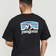Patagonia M's Fitz Roy Horizons Responsibili Tee černé