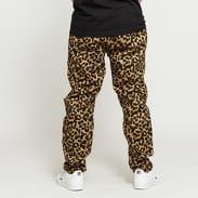 PLEASURES Leopard Beach Pant černé / hnědé