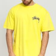 Stüssy Stock C. Pig. Dyed Tee žlutozelené