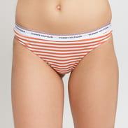 Tommy Hilfiger 3 Pack Thong Stripe Print oranžové / bílé / světle růžové / vínové