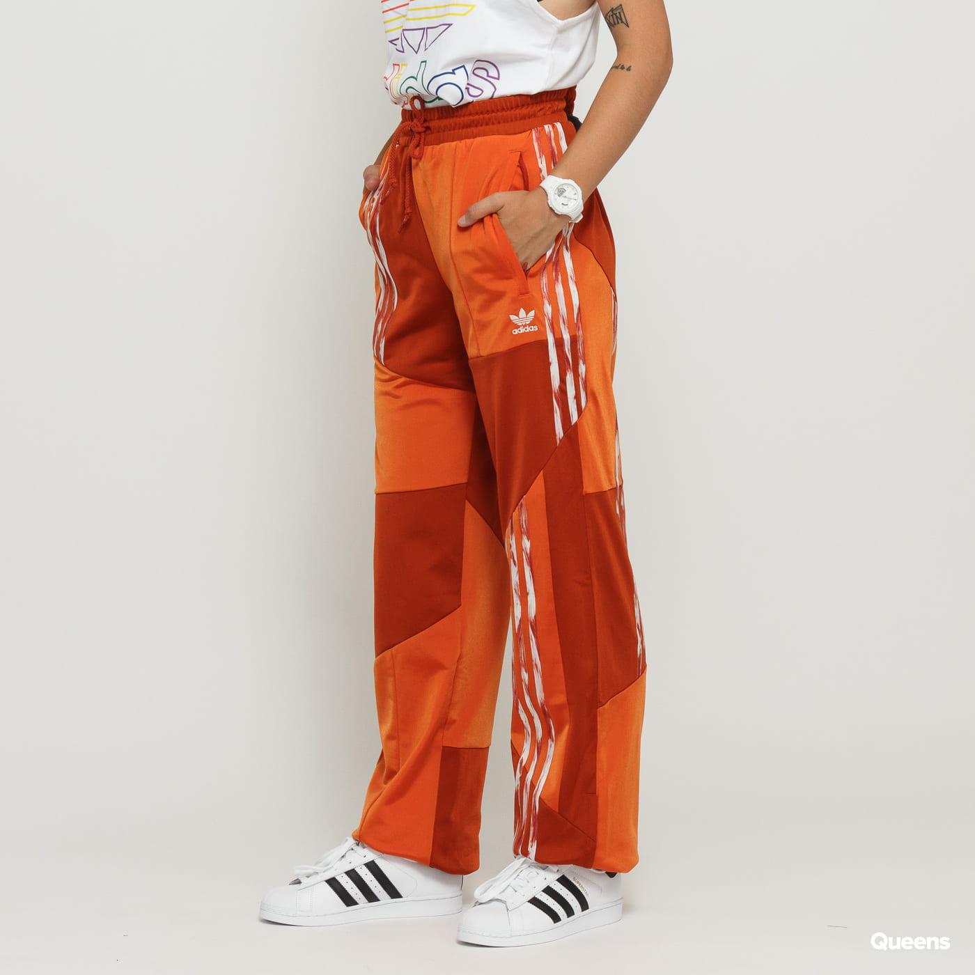 adidas Originals Danielle Cathari Firebird Track Pant oranzové tmave oranzové