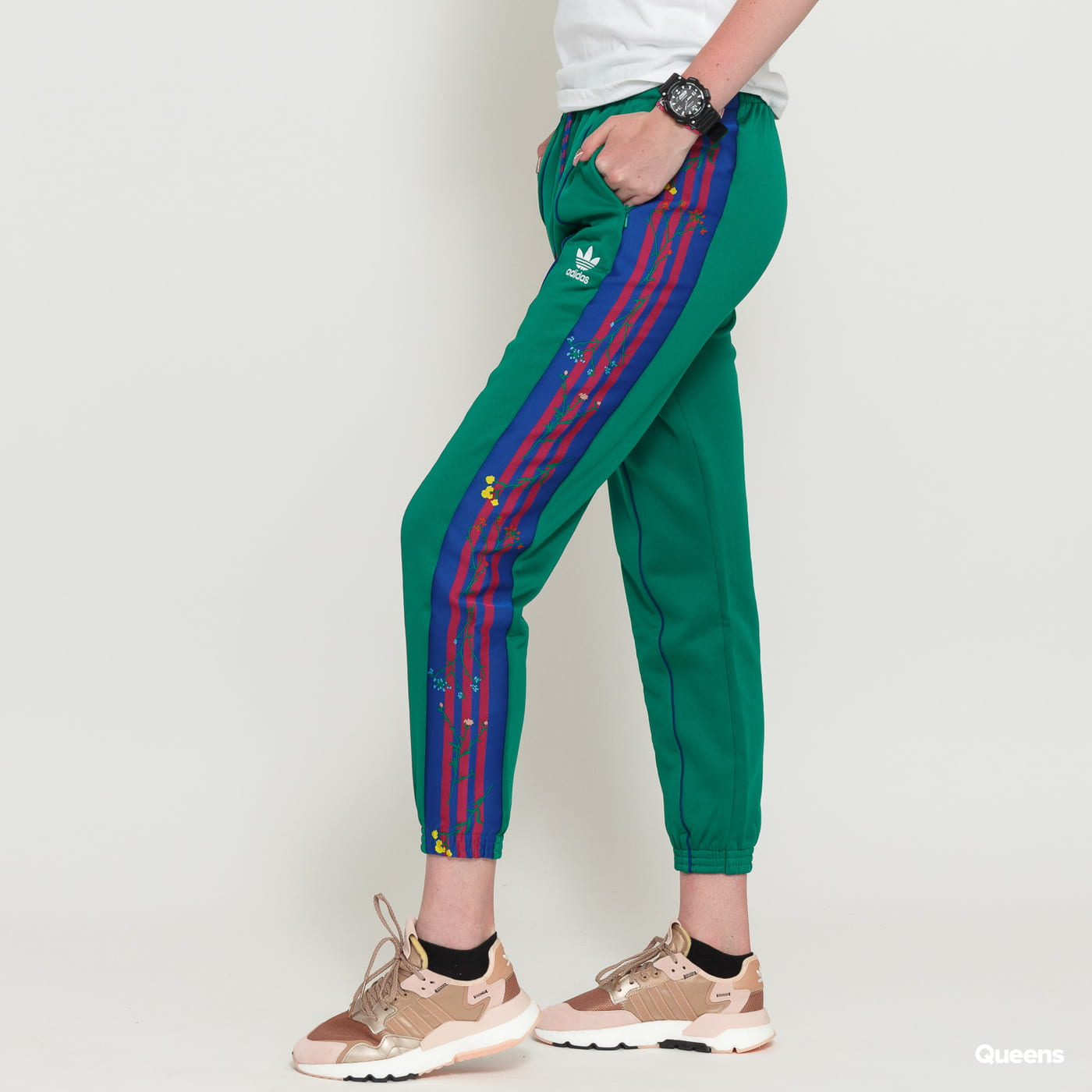 f9b5981242 adidas Originals Track Pants green / blue / dark pink