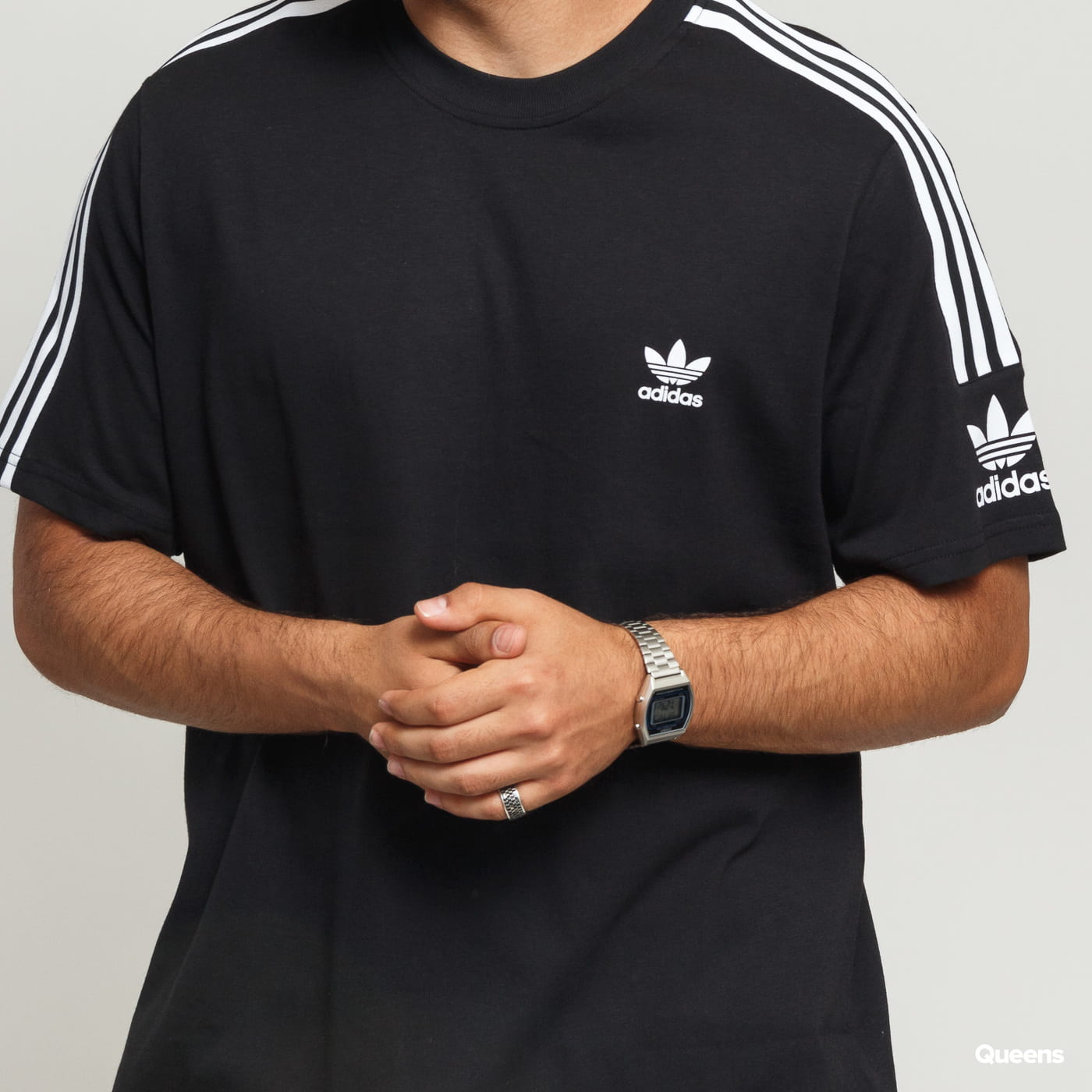 adidas Originals Tech Tee black satin