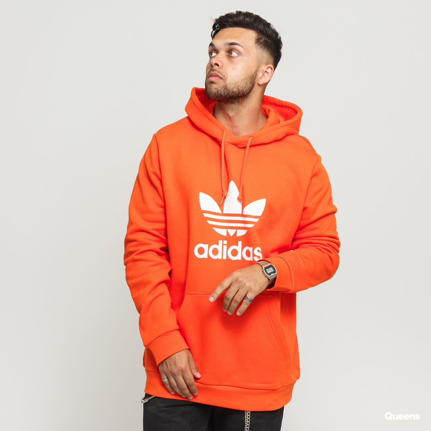 lowest price outlet for sale exquisite style adidas Originals Trefoil Hoodie orange