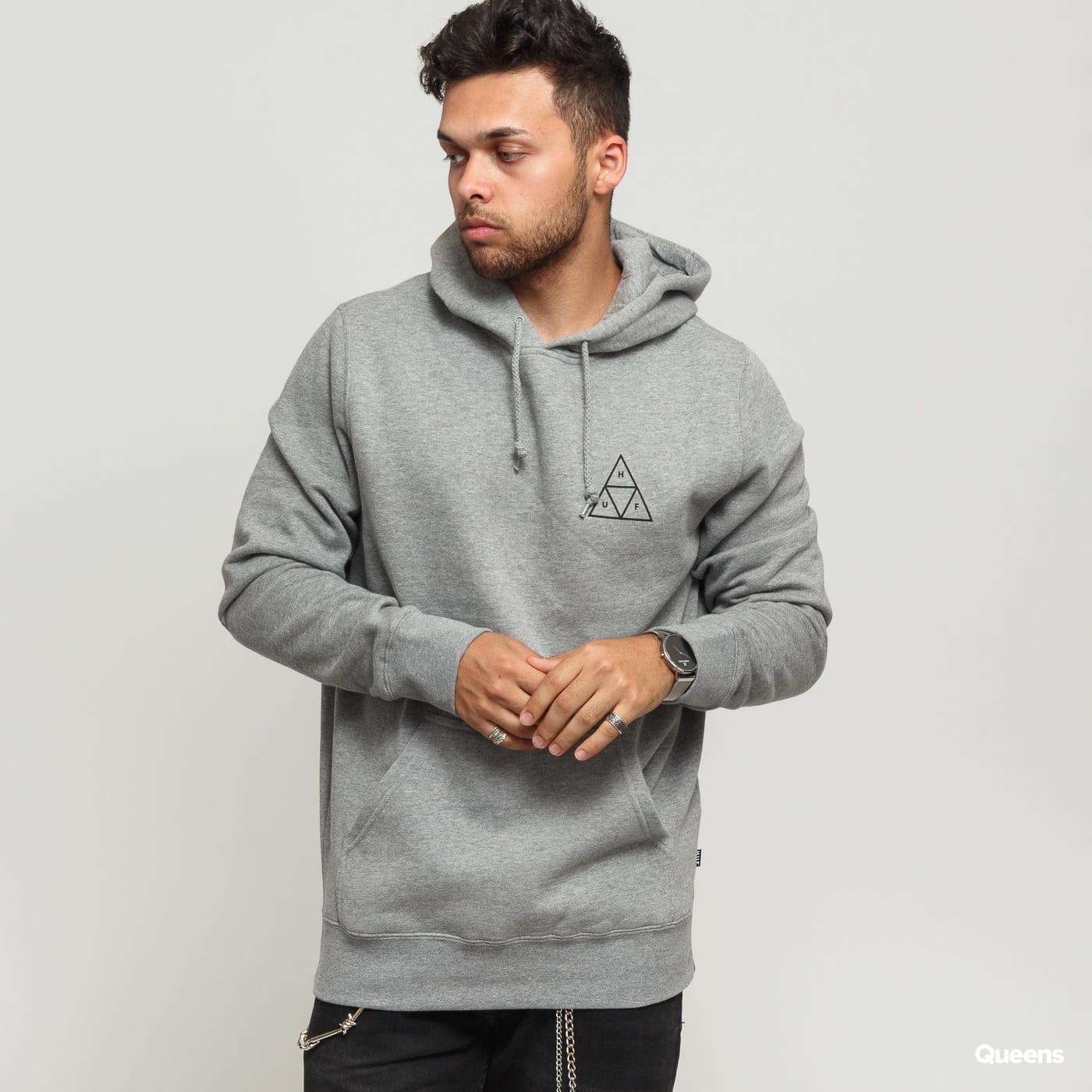 HUF Hoodie Essentials Triple Triangle grey