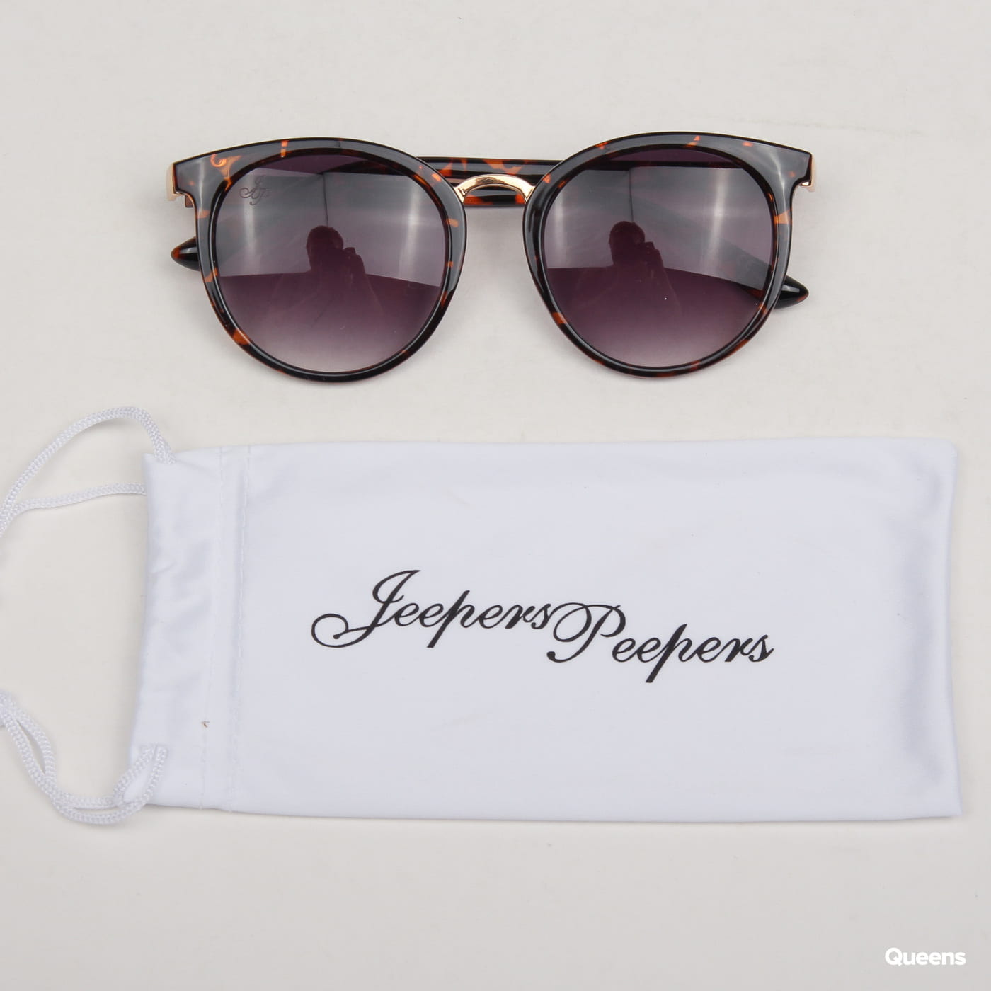 Jeepers Peepers Round Tort Sunglasses čierne / hnedé