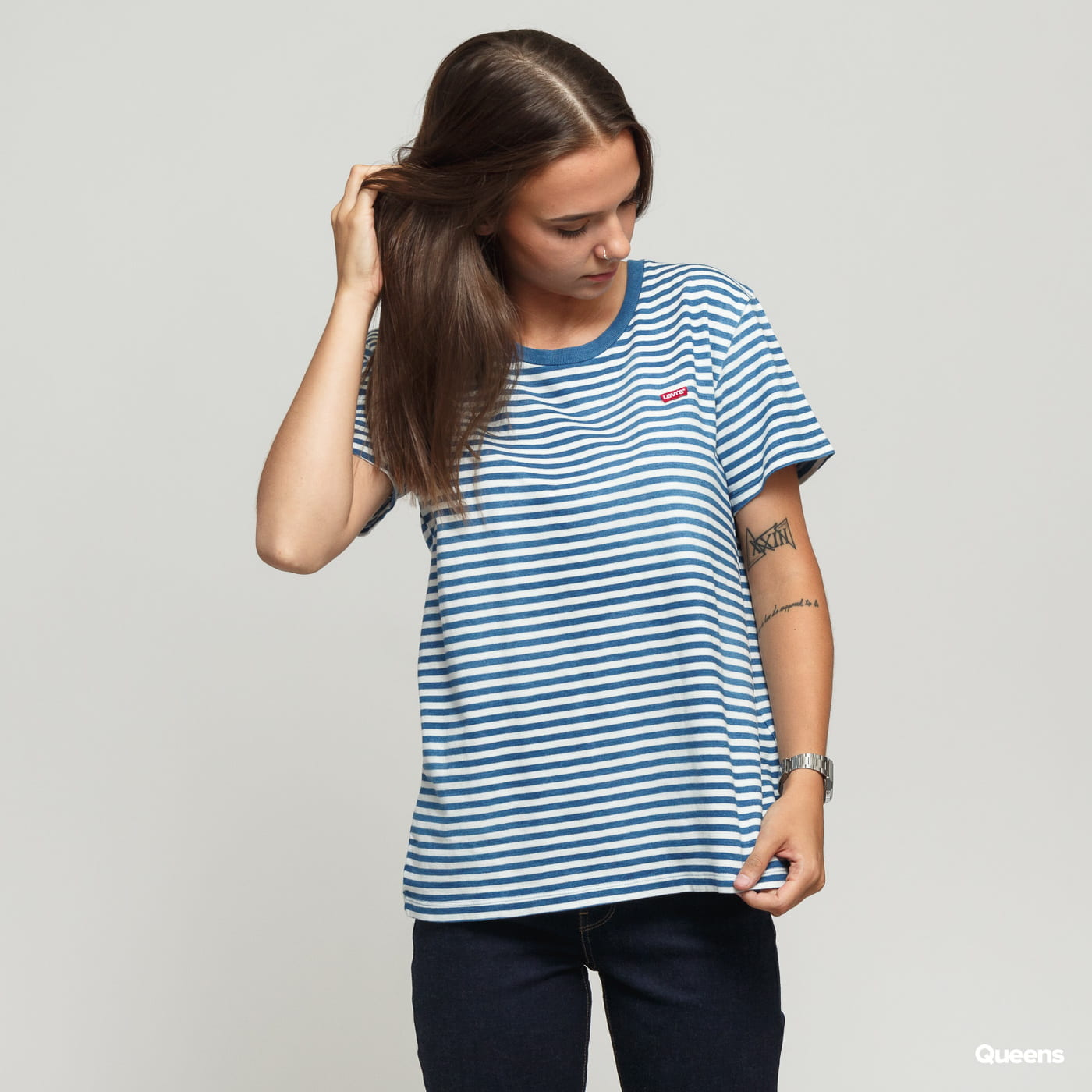 limited sale marketable buy sale Levi's ® Perfect Tee blue / white