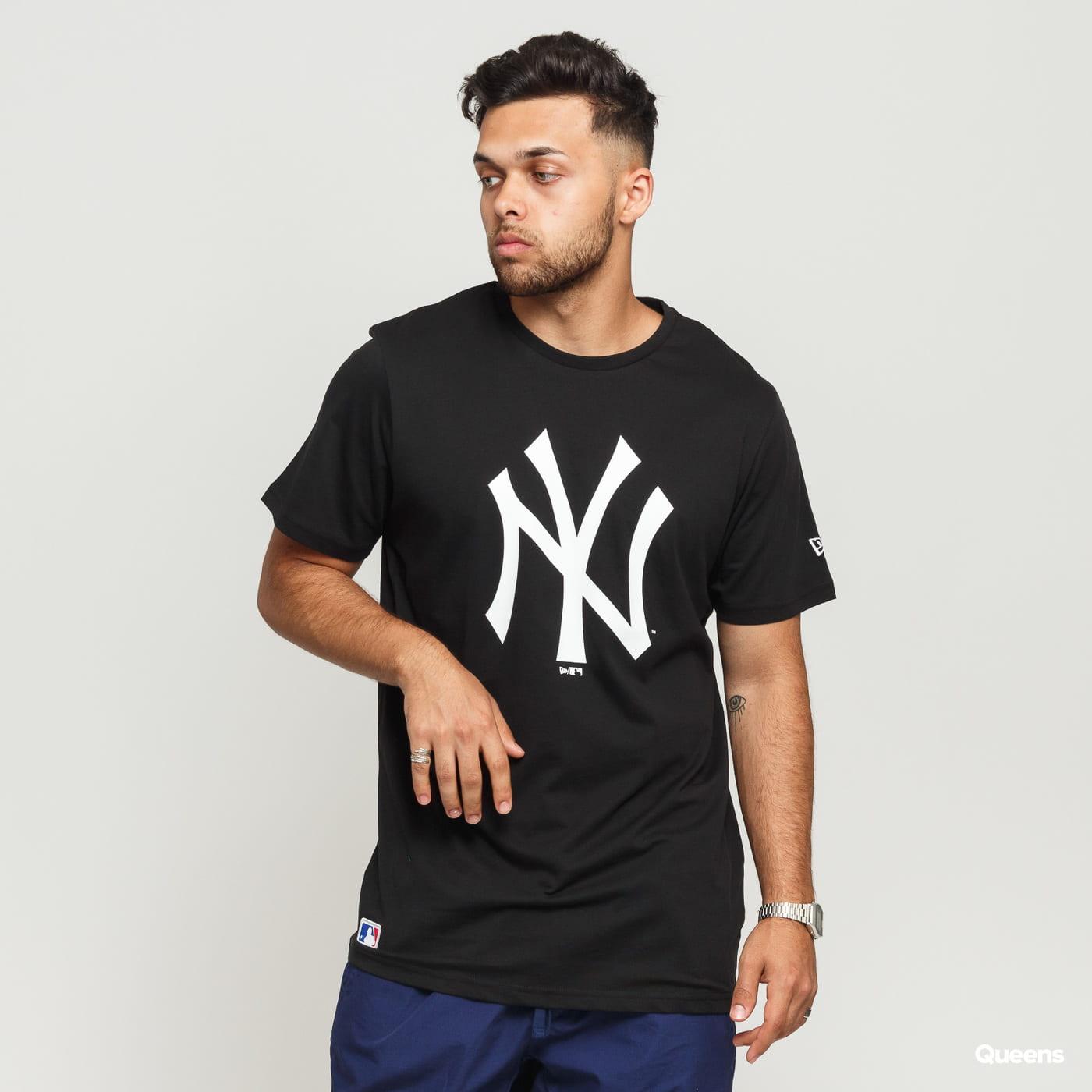 New Era MLB Team Logo Tee NY C/O black satin