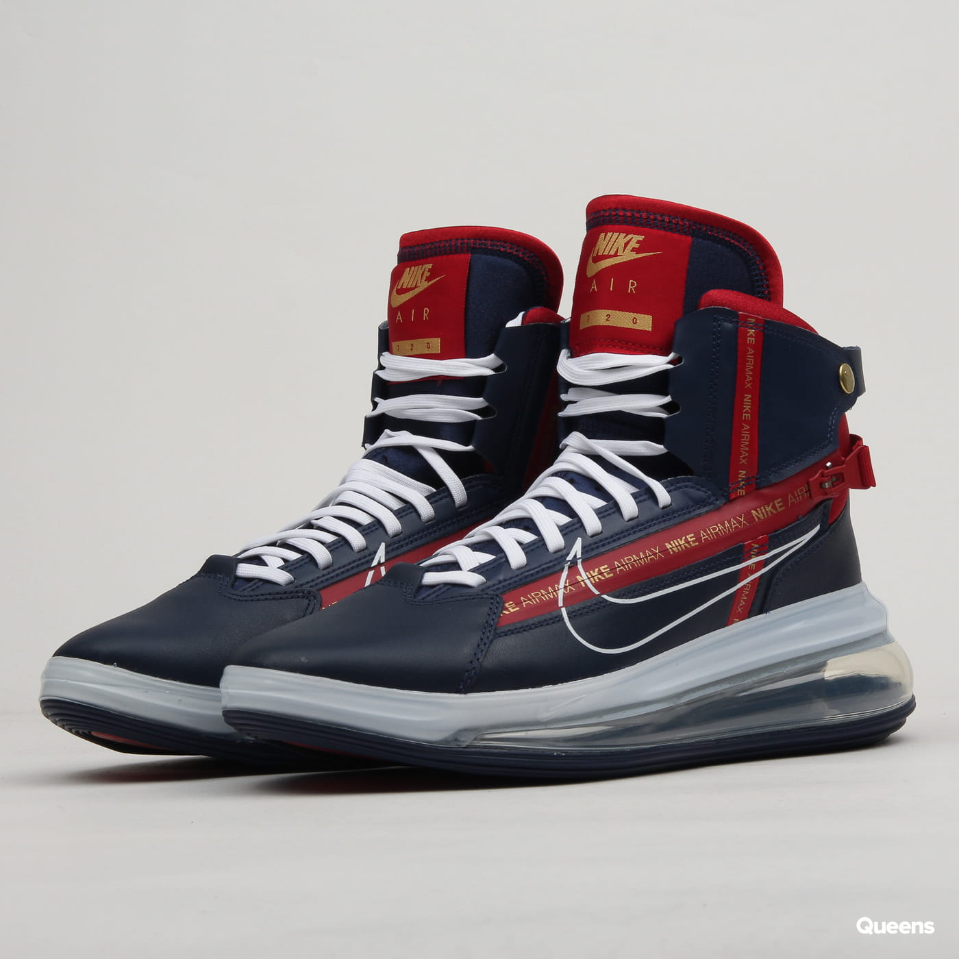 Nike Air max 720 Saturn midnight navy white gym red