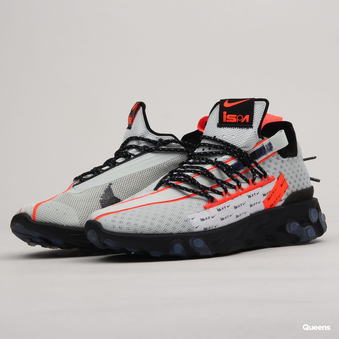online retailer timeless design reasonable price Nike React ISPA ghost aqua / total crimson - black