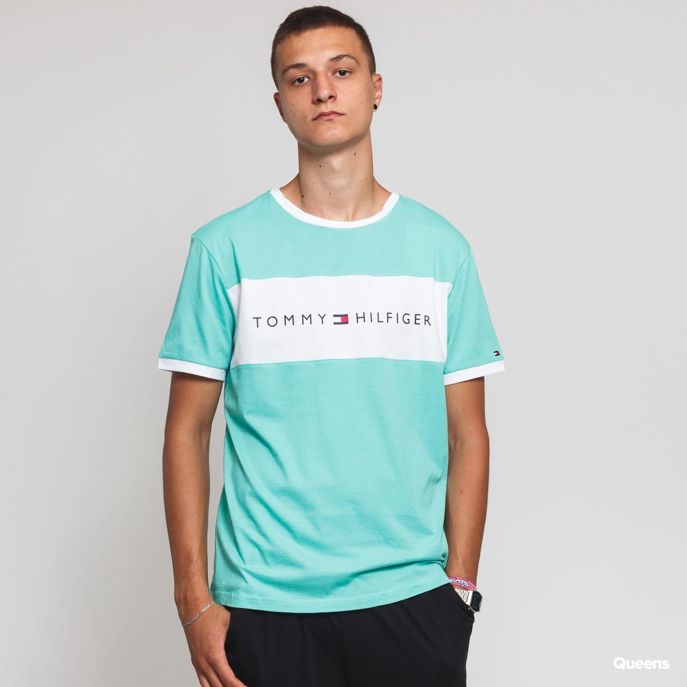 e1434097891fb Short Sleeve T-Shirts Tommy Hilfiger CN SS Tee Logo Flag light green  (UM0UM01170 319) – Queens 💚