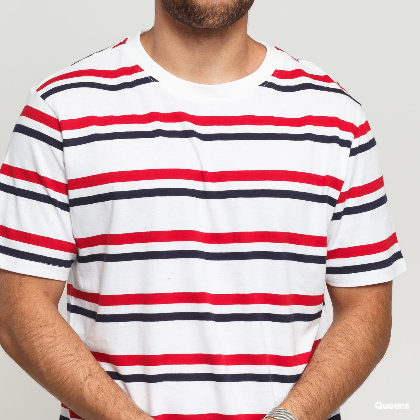 Urban Classics Yarn Dyed Skate Stripe Tee biele / červené / navy