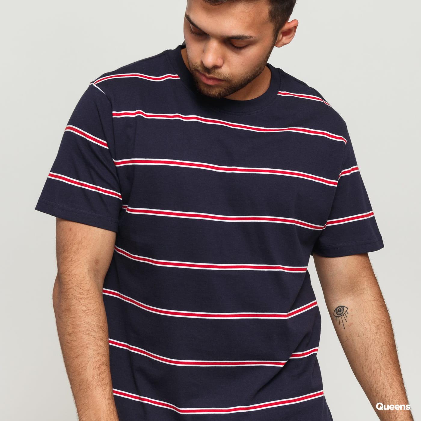 Urban Classics Yarn Dyed Skate Stripe Tee navy / biele / červené