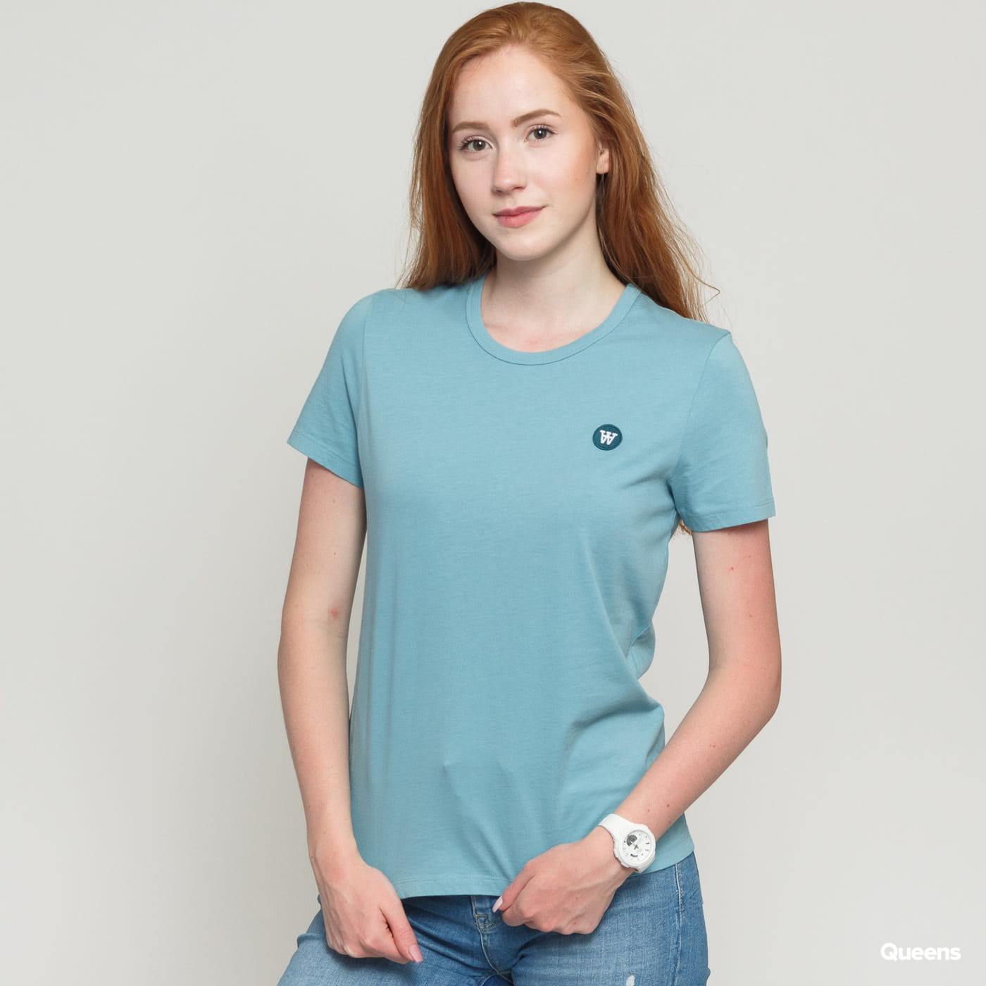 WOOD WOOD Uma Tee light blue