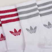 adidas Originals 2 Pack Mid Cut GLT Sock bílé