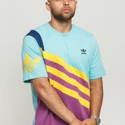 adidas Originals Tee fialové / světle modré / žluté